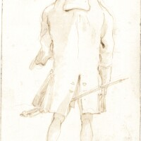 341. giovanni battista tiepolo | a standing man seen from behind, with a sword