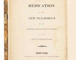 8. form of service at the dedication of the new synagogue of the kahal kadosh mickvi israel [philadelphia], new york: s.h. jackson, 1825