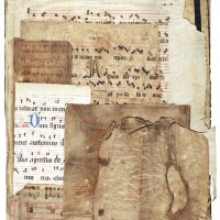 39. fragments of music manuscripts, in latin [italy, france, spain(?); 12th and 15th-16th centuries]