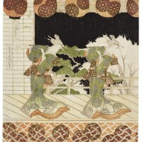 40. yashima gakutei (1786?–1868)furuichi dance edo period, 19th century  