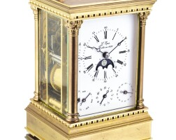 2007. l'epée | gilt-brass striking time carriage clock with musical alarm, day, date and moon phasesno 10131322 circa 2010