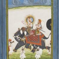 809. maharana sardar singh riding an elephant