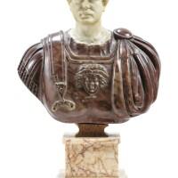 8. italian, probably rome, 19th century, after the antiquebust of the emperor hadrian |