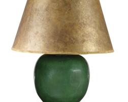 24. a chinese crackled emerald green globular vase lamp, third quarter 20th century |