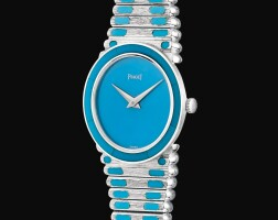24. piaget | reference 9091 c 426 a white gold andturquoise-set bracelet watch, circa 1975