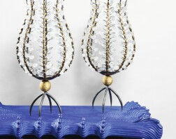 3. andré dubreuil   pair of perles candle holders