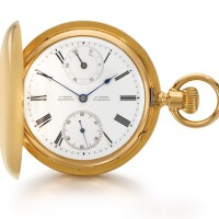 30. a. lange & söhne, glashütte | a fine pinkgold hunting cased keyless lever watch with up-and-down indicationcirca 1879, no. 13272