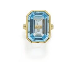 30. blue topaz 'gossip' ring, goshwara