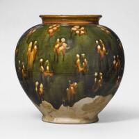 5. a sancai-glazed pottery jar tang dynasty