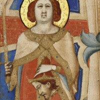 2. judith and holofernes, cutting from a choirbook, in latin [italy (siena), c.1340-50]