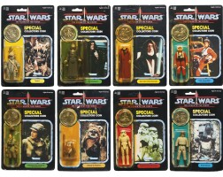 40. eight star wars power of the force '92-back' action figures, 1985