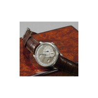 492. a fine and rare platinum automatic calendar wristwatch, f. p. journe, 'octa calendrier', no. 003-04q 2004