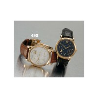 490. a fine pink gold wristwatch with eccentric dial, oversized date and power reserve indication, a. lange & söhne, glashütte i/sa, 'lange 1' 2003