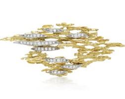 47. diamond pendant/brooch