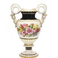 404. a large meissen empire-style snake-handled vase circa 1880