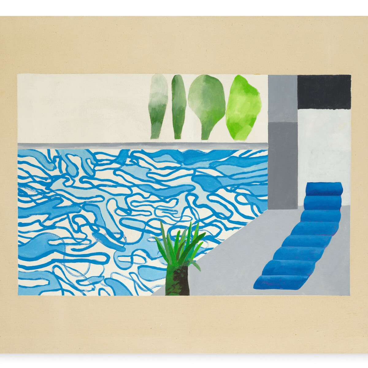 The Painting That Started It All Discover David Hockney S First Swimming Pool Contemporary Art Sotheby S