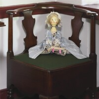 773. morris-shinn-maier familyqueen anne turned and joined walnut convenience roundabout armchair, philadelphia, circa 1730