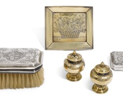 312. a group of silver and silver-gilt items, the majority english, late 17th/early 18th century |
