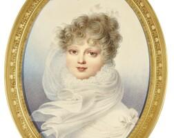 323. henri benner | portrait of grand duchess ekaterina palvovnaof russia, queen of würtemberg (1788-1819) circa 1821