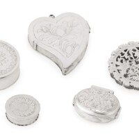 10. four small silver boxes, late 17th century