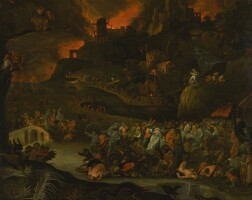 142. circle of jan breughel the younger   the underworld