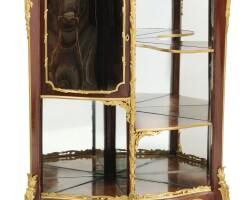 32. françois linke (1855 - 1946)a french gilt-bronze mounted mahogany encoignure, paris, circa 1900  