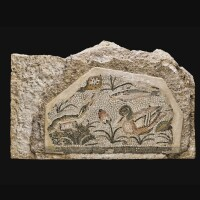 44. a roman nilotic mosaic emblema fragment, circa 1st century a.d. | a roman nilotic mosaic emblema fragment