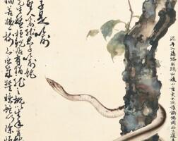 2722. gao qifeng (1889-1933); zhang kunyi (1895-1969) | snake around a tree