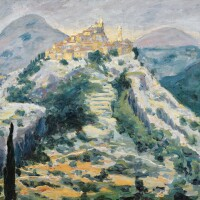 5. sir winston churchill, k.g., o.m., f.r.s., hon. r.a. | a view of eze in the alpes-maritimes