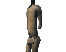 11. bamana male figure, mali