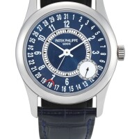 47. patek philippe | calatrava, reference 6000 a white gold wristwatch with date, circa 2008