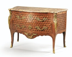48. a louis xv gilt-bronze mounted kingwood and amaranth parquetry commode, stampedf. reizell andjme  