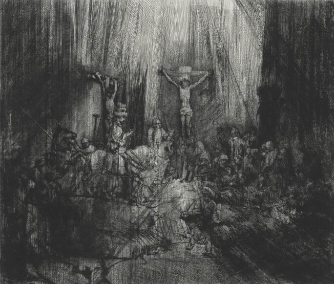 Rembrandt-van-Rijn-Christ-Crucified-Between-Two-Thieves