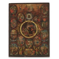 3. a russian icon of the anastasis, 18th century