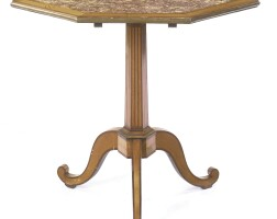 201. a directoire brass-mounted satinwood and kingwood guéridon late 18th century