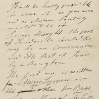 176. dvorák, antonín. fine, unpublished autograph letter with music