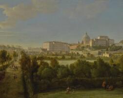 25. gaspar van wittel, called vanvitelli   rome, a view of saint peter's basilica and the vatican seen from prati di castello