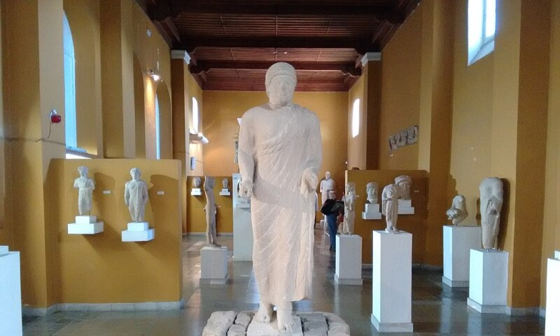 Interior view of the Cyprus Museum.