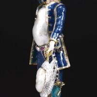 3. a jewelled gold, silver, enamel and hardstone'perlfigur', circle of johann heinrich köhler, dresden, circa 1720-1730