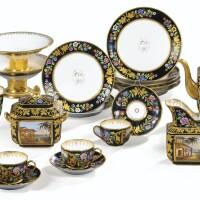 16. partie de service à thé en porcelaine de paris, vers 1840-1850