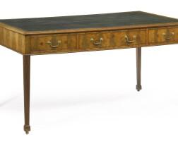 12. a george iii mahogany library table circa 1775
