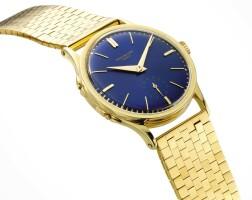 258. 百達翡麗(patek philippe) | 2597型號「heures sauntantes」罕有黃金跳時腕錶,1957年製。