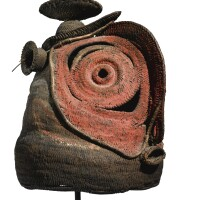 213. abelam basketry mask, prince alexander mountains, middle sepik river, papua new guinea