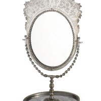 43. a polished steel dressing table mirror, tula, circa 1800