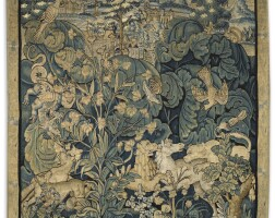 10. a flemish fragment tapestry, 16th century |