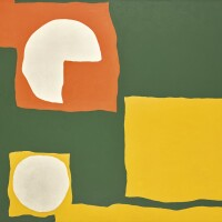29. patrick heron | orange, yellow, dull green and white : august 1965