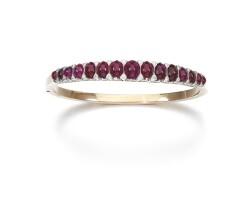 1. ruby and diamond bangle