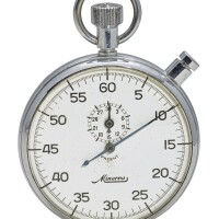 11. minerva   a stainless steel stopwatch with registercase 618244 circa 1970