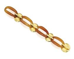 9. 18 karat gold and carnelian bracelet, aldo cipullo