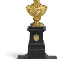 21. joseph dominik glänz (1778-1841)austrian, vienna, early 19th century   bust of francis i, emperor of austria (1768-1835), formerly francis ii, holy roman emperor